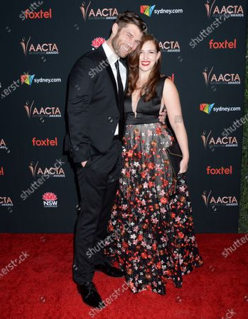 Stock Picture of Liam McIntyre and Erin Hasan