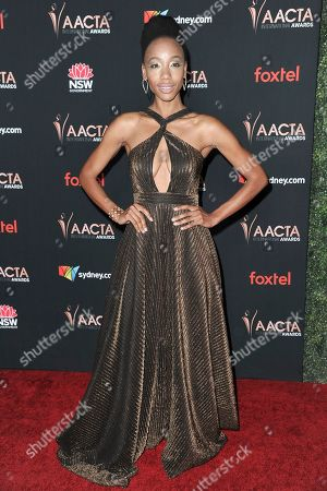 Charmaine Bingwa attends the 9th Annual AACTA International Awards at Mondrian Los Angeles, in West Hollywood, Calif