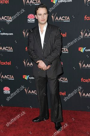 Stock Picture of Mojean Aria attends the 9th Annual AACTA International Awards at Mondrian Los Angeles, in West Hollywood, Calif
