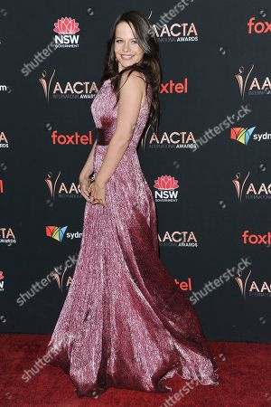 Tammin Sursok attends the 9th Annual AACTA International Awards at Mondrian Los Angeles, in West Hollywood, Calif