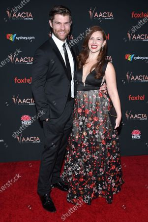 Stock Image of Liam McIntyre and Erin Hasan
