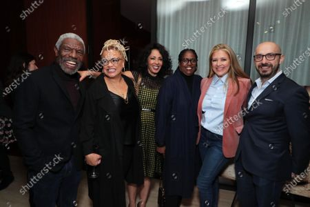 Stock Picture of Vondie Curtis-Hall, Kasi Lemmons - Director/Writer, Debra Martin Chase - Producer, Kim Coleman - Casting Director, Daniela Taplin Lundberg - Producer, Peter Kujawski - Chairman of Focus Features