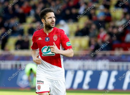 Cesc Fabregas of AS Monaco during the French Cup round of 32 soccer match, AS Monaco vs Stade de Reims, at Stade Louis II, in Monaco, 04 January 2020.