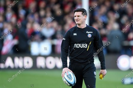 Freddie Burns of Bath Rugby looks on during the pre-match warm-up