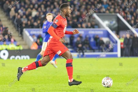 Stock Photo of Dujon Sterling (15 on loan from Chelsea)  during the The FA Cup match between Leicester City and Wigan Athletic at the King Power Stadium, Leicester