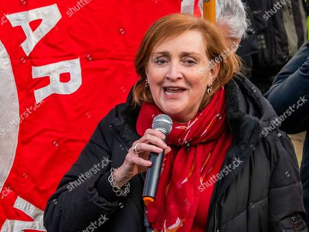 Emma Dent Coad speaking at the protest