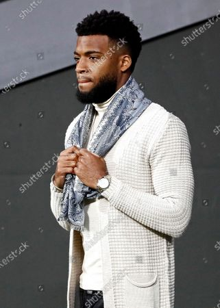 Atletico Madrid's player Thomas Lemar watches the Spanish LaLiga soccer match between Atletico Madrid and Levante UD at Wanda Metropolitano stadium in Madrid, Spain, 04 January 2020.