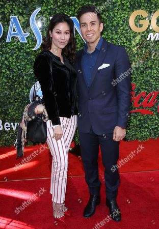 Stock Image of Bianca Stam and Apolo Anton Ohno