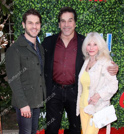 Stock Photo of Lou Ferrigno Jr, Lou Ferrigno and wife