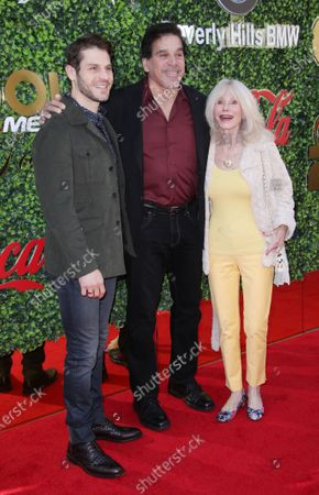 Stock Picture of Lou Ferrigno Jr, Lou Ferrigno and wife