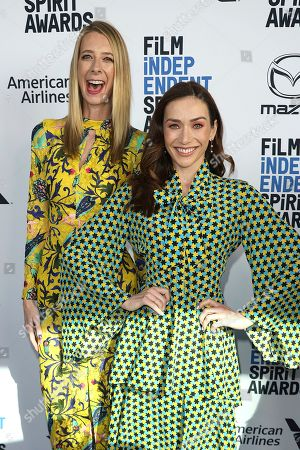 Dawn Luebbe, Jocelyn Deboer. Dawn Luebbe, left, and Jocelyn Deboer attend the 2020 Film Independent Spirit Awards Nominee Brunch at the Boa Steakhouse, in West Hollywood, Calif