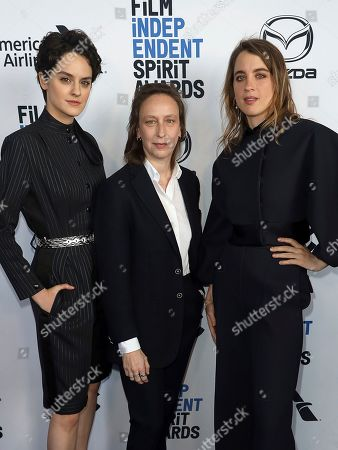 Noemie Merlant, Celine Sciamma, Adele Haenel. Noemie Merlant, from left, Celine Sciamma and Adele Haenel attend the 2020 Film Independent Spirit Awards Nominee Brunch at the Boa Steakhouse, in West Hollywood, Calif