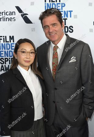 Lulu Wang, Josh Welsh. Lulu Wang, left, and Josh Welsh attend the 2020 Film Independent Spirit Awards Nominee Brunch at the Boa Steakhouse, in West Hollywood, Calif