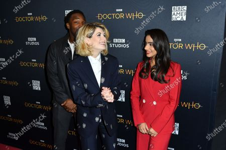Tosin Cole, Jodie Whittaker, and Mandip Gill
