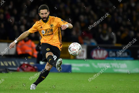 Wolverhampton Wanderers' Joao Moutinho during the FA Cup third round soccer match between Wolverhampton Wanderers and Manchester United at the Molineux Stadium in Wolverhampton, England