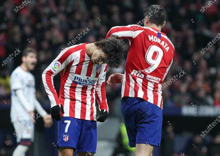Alvaro Morata, of Atletico de Madrid and Joao Felix, of Atletico de Madrid