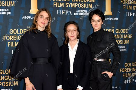 Adele Haenel, director Celine Sciamma and actress Noemie Merlant attend the 2019 Golden Globe Foreign-Language Film Symposium in Hollywood, California, USA