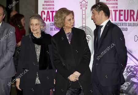 Former Queen Sofia of Spain and Princess Irene of Greece