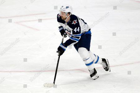 Jets Wild Hockey. Winnipeg Jets defenseman Josh Morrissey skates against the Minnesota Wild during an NHL hockey game, in St. Paul, Minn