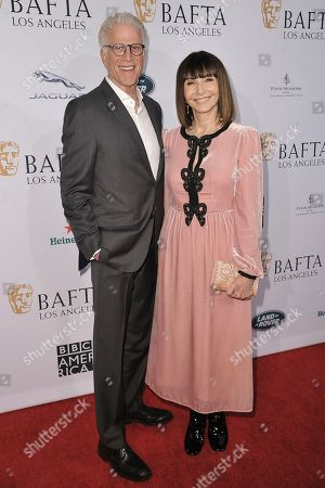 Ted Danson, Mary Steenburgen. Ted Danson, left, and Mary Steenburgen attend the 2020 BAFTA tea party at the Four Seasons Hotel, in Los Angeles