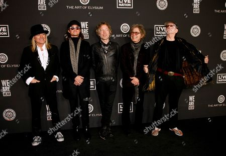 Stock Picture of Cheap Trick - Daxx Nielsen, Tom Petersson, Rick Nielsen and Robin Zander