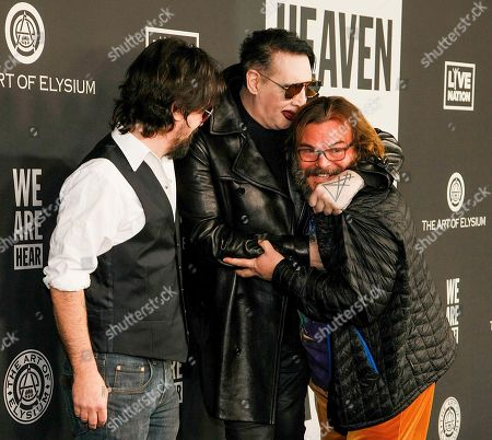 Stock Image of Shooter Jennings, Marilyn Manson and Jack Black