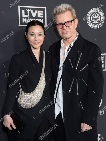 Stock Picture of China Chow and Billy Idol