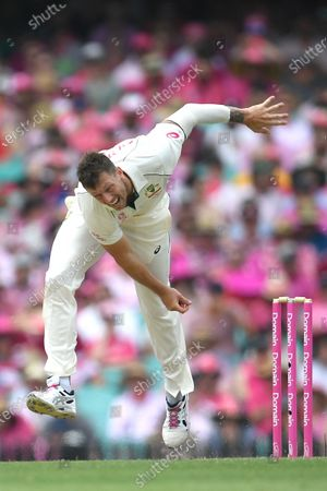James Pattinson of Australia bowls during day three of the third Test Match between Australia and New Zealand at the Sydney Cricket Ground (SCG) in Sydney, Australia, 05 January 2020.
