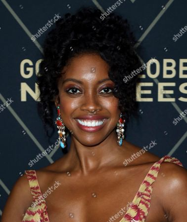 Condola Rashad attends the 2020 Showtime Golden Globe Nominees Celebration at the Sunset Tower Hotel, in Los Angeles
