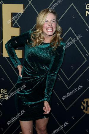 Molly Burnett attends the 2020 Showtime Golden Globe Nominees Celebration at the Sunset Tower Hotel, in Los Angeles