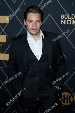 Dominic Sherwood attends the 2020 Showtime Golden Globe Nominees Celebration at the Sunset Tower Hotel, in Los Angeles