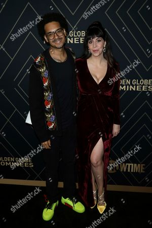 Yassir Lester, Chelsea Devantez. Yassir Lester, left, and Chelsea Devantez attend the 2020 Showtime Golden Globe Nominees Celebration at the Sunset Tower Hotel, in Los Angeles