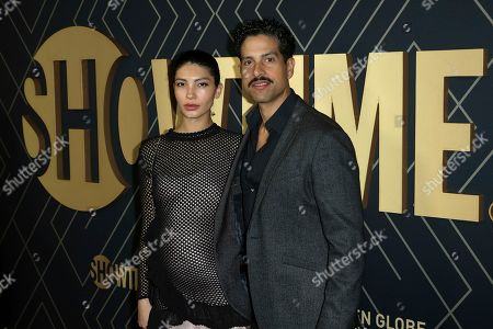 Grace Gail, Adam Rodriguez. Grace Gail, left, and Adam Rodriguez attend the 2020 Showtime Golden Globe Nominees Celebration at the Sunset Tower Hotel, in Los Angeles