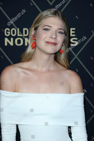 Kate Miner attends the 2020 Showtime Golden Globe Nominees Celebration at the Sunset Tower Hotel, in Los Angeles