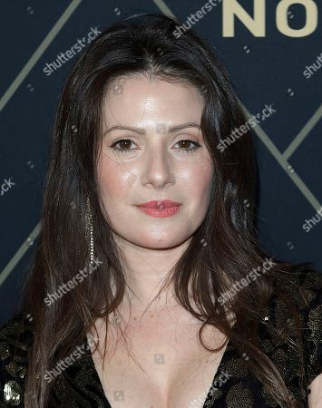 Aleksa Palladino attends the 2020 Showtime Golden Globe Nominees Celebration at the Sunset Tower Hotel, in Los Angeles