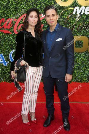 Stock Image of Bianca Stam and Apolo Anton Ohno