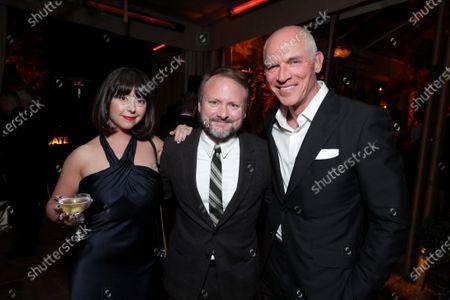 Karina Longworth, Rian Johnson, Joe Drake, Co-Chairman of Lionsgate Motion Picture Group,