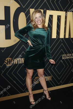 Molly Burnett arrives for the Showtime Golden Globe Nominees Celebration at the Sunset Tower Hotel in West Hollywood, California, USA, 04 January 2020.
