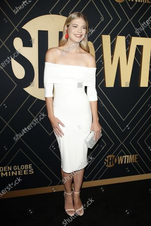 Stock Photo of Kate Miner arrives for the Showtime Golden Globe Nominees Celebration at the Sunset Tower Hotel in West Hollywood, California, USA, 04 January 2020.