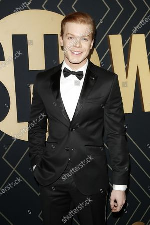 Cameron Monaghan arrives for the Showtime Golden Globe Nominees Celebration at the Sunset Tower Hotel in West Hollywood, California, USA, 04 January 2020