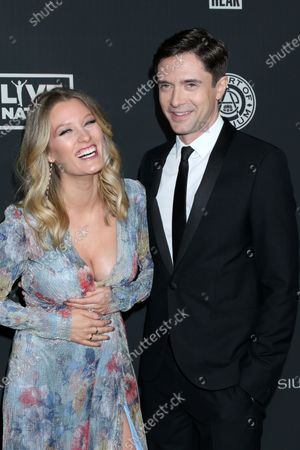 Stock Image of Ashley Hinshaw and Topher Grace