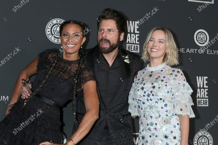 Stock Picture of Christina Moses, James Roday and Allison Miller