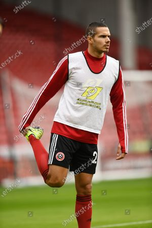 Jack Rodwell of Sheffield United warms up.
