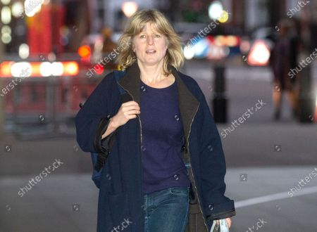 Presenter and Journalist, Rachel Johnson, arrives at the BBC Studios for 'The Andrew Marr Television Show'.
