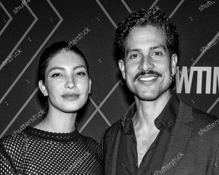 Stock Image of Grace Gail and Adam Rodriguez