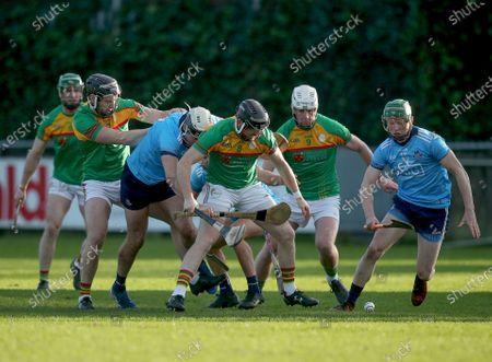 Dublin vs Carlow. Carlow's Richard Coady and Fergal Whitely of Dublin