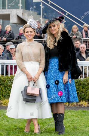 Intensive Care Nurse Scrubs Up Well at Naas Racecourse!. -Best Dressed Lady Michelle Manning Wins at Kildare Track-. Michelle Manning, originally from Co. Mayo and now living in Ballinasloe, Co. Galway pictured with judge Rosanna Davison at the Lawlor's of Naas Grade 1 Novice Hurdle and Winter Ladies Day, which took place at Naas Racecourse on Sunday, 5th of January. Michelle, who is an intensive care nurse at Galway University Hospital was declared the Best Dressed Lady and bagged herself a luxurious Suite stay at Lawlor's of Naas Town Centre Hotel, €1,500 worth of hairdressing and accessories from Alan Keville for Hair and a €1,500 voucher from Residence Day Spa in Naas. She wore a white skirt from Jennifer Wrynne with a camel cardigan from Zara, snakeskin heels from Asos with a matching snakeskin hat from Laura Hanlon Millinery. Michelle completed her outfit with accessories from Jewelbox.ie. The feature race, The Lawlor's of Naas Grade 1 Novice Hurdle was won by Envoi Allen with Davy Russell on board