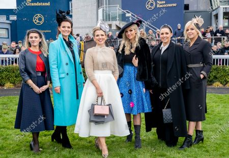 Intensive Care Nurse Scrubs Up Well at Naas Racecourse!. -Best Dressed Lady Michelle Manning Wins at Kildare Track-. Michelle Manning, originally from Co. Mayo and now living in Ballinasloe, Co. Galway pictured with judges Zane Kostiva, Residence Day Spa, Anna Fortune, Leinster Leader and Kildare Post, Rosanna Davison, Carolyn McHale, Aria Boutique and Lawlors of Naas and Anne Keville, Alan Keville for Hair at the Lawlor's of Naas Grade 1 Novice Hurdle and Winter Ladies Day, which took place at Naas Racecourse on Sunday, 5th of January. Michelle, who is an intensive care nurse at Galway University Hospital was declared the Best Dressed Lady and bagged herself a luxurious Suite stay at Lawlor's of Naas Town Centre Hotel, €1,500 worth of hairdressing and accessories from Alan Keville for Hair and a €1,500 voucher from Residence Day Spa in Naas. She wore a white skirt from Jennifer Wrynne with a camel cardigan from Zara, snakeskin heels from Asos with a matching snakeskin hat from Laura Hanlon Millinery. Michelle completed her outfit with accessories from Jewelbox.ie. The feature race, The Lawlor's of Naas Grade 1 Novice Hurdle was won by Envoi Allen with Davy Russell on board