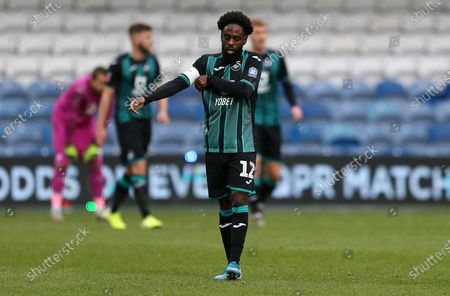Dejected Nathan Dyer of Swansea City.