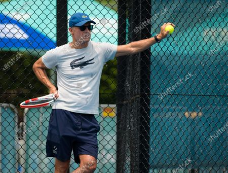 Nigel Sears during practice ahead of the 2020 Brisbane International WTA Premier tennis tournament
